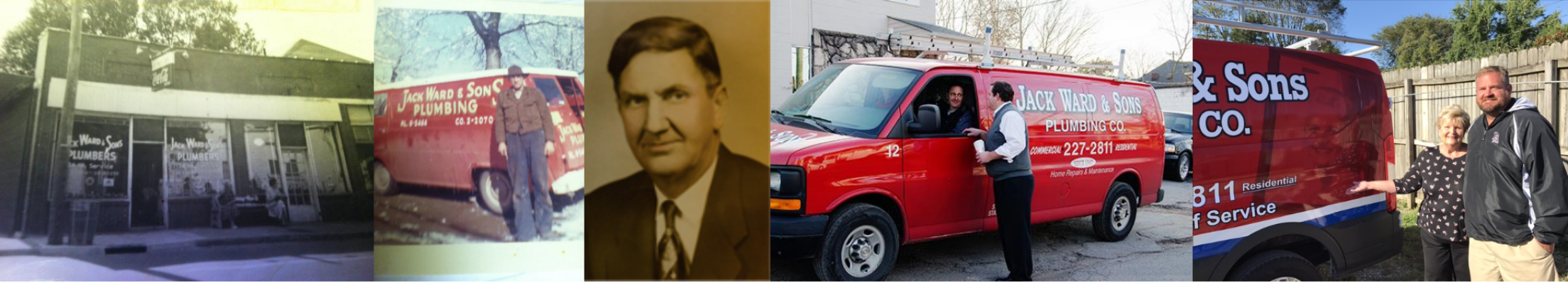 Jack Ward & Sons Plumbing Co. through the years
